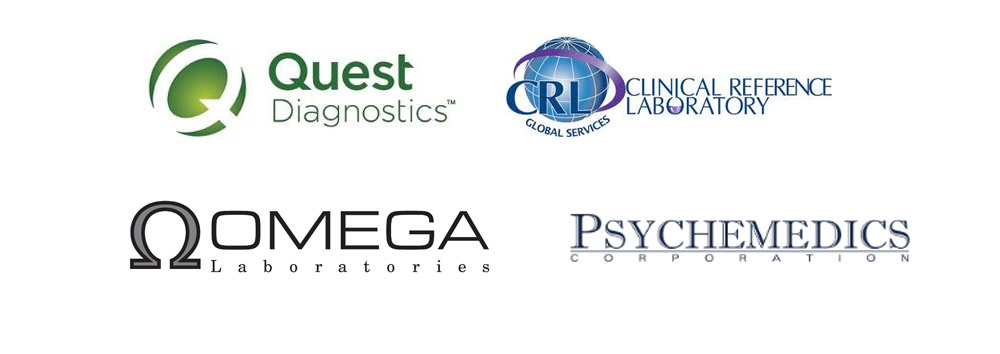 Quest Diagnostics, Clinical Reference Laboratory, Psychemedics, Omega Labnoratories, Alene eScreen
